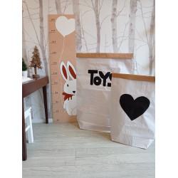 Srdíčko - pytel na hračky (střední), Toys, Zajíček