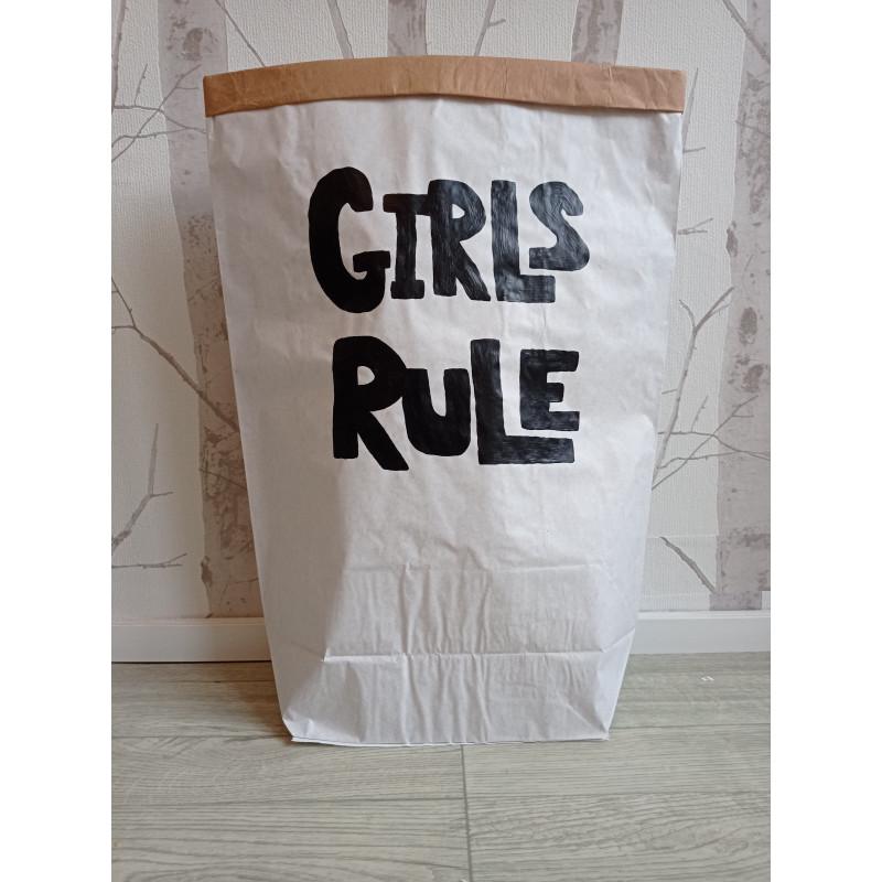Girls rule - pytel na hračky (střední)