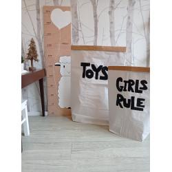 Girls rule - pytel na hračky (střední), Toys, Ovečka