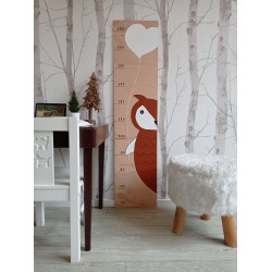 Sovička - dětský metr na zeď