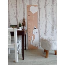 Kočička - dětský metr na zeď
