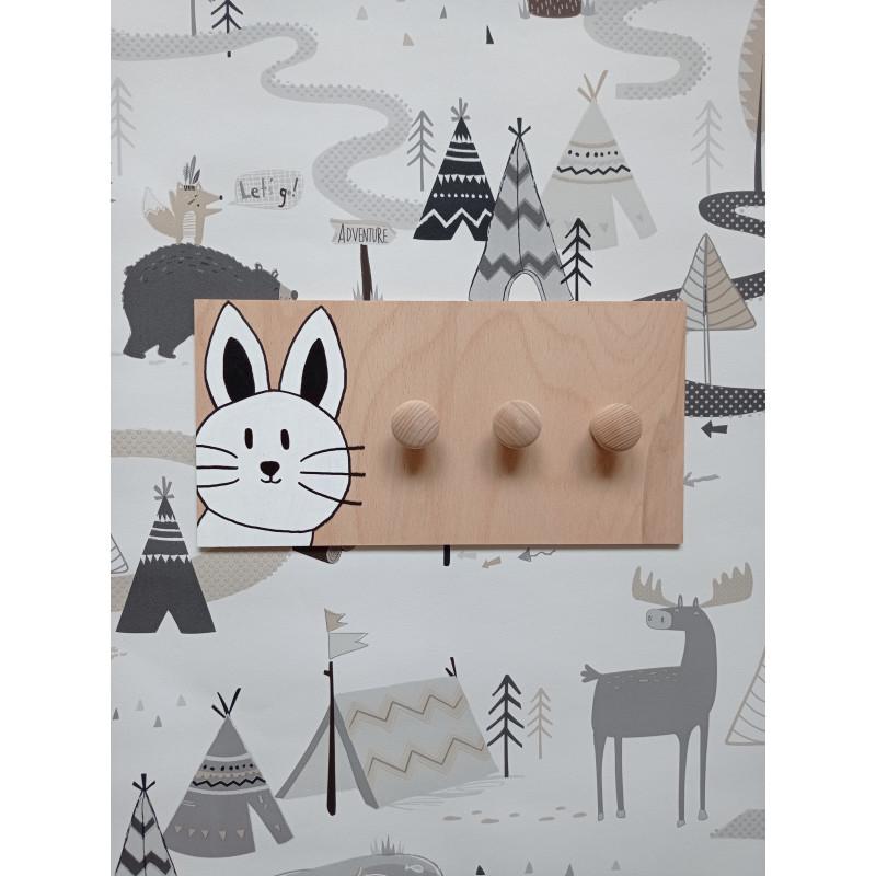 Kočička - dětský věšák na zeď