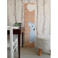 Koala - dětský metr na zeď