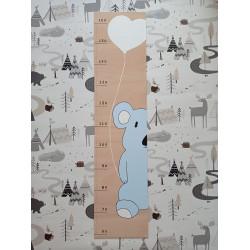Koala - dětský metr na zeď (detail)