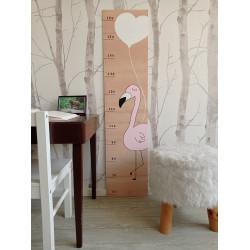 Plameňák - dětský metr na zeď