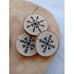 Sněhové vločky jako dekorace