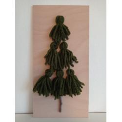 Stromeček z vlny - zelený