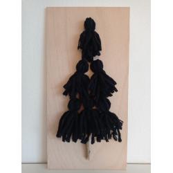 Stromeček z vlny - černý
