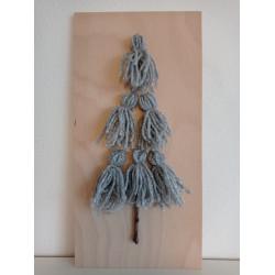 Stromeček z vlny - stříbrný