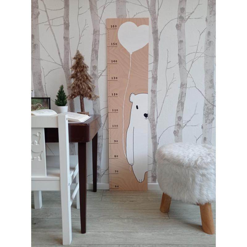 Lední medvídek - dětský metr na zeď