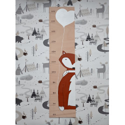 Lištička - dětský metr na zeď (detail)
