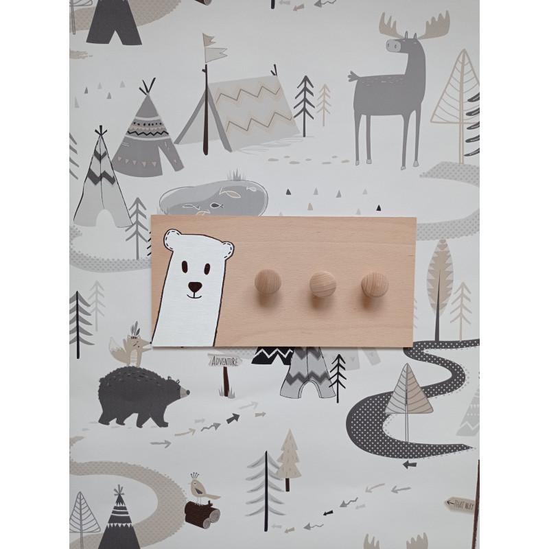 Lední medvídek - dětský věšák na zeď
