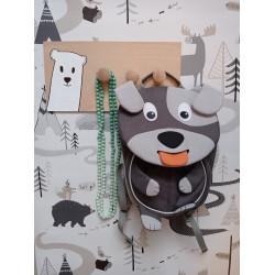 Lední medvídek - dětský věšák na zeď (detail)