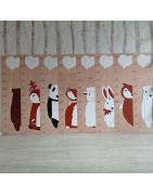 Dětské metry na zeď - zvířátkové motivy